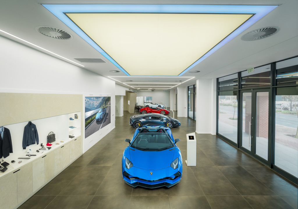Inside the Cape Town Lamborghini Showroom at Century City.